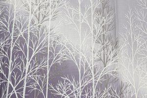 樹氷の森文様の縦絽の附下 夏着物