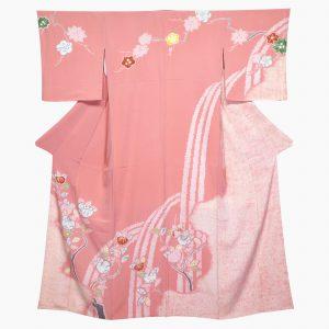 松坂屋染織名作展の絞り、辻が花の訪問着
