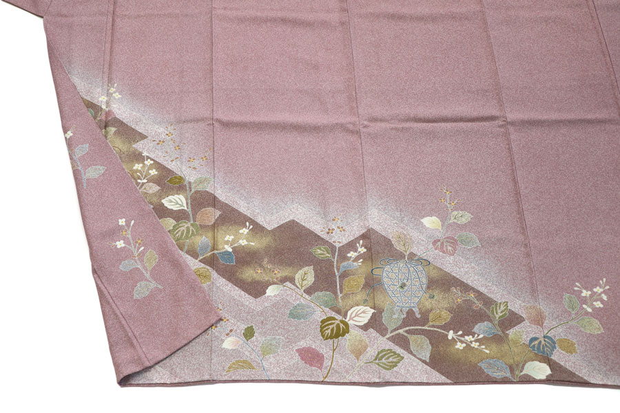 松井青々作のたたき染の訪問着 着物
