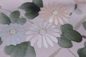 秋草文の紗合わせ 夏の着物