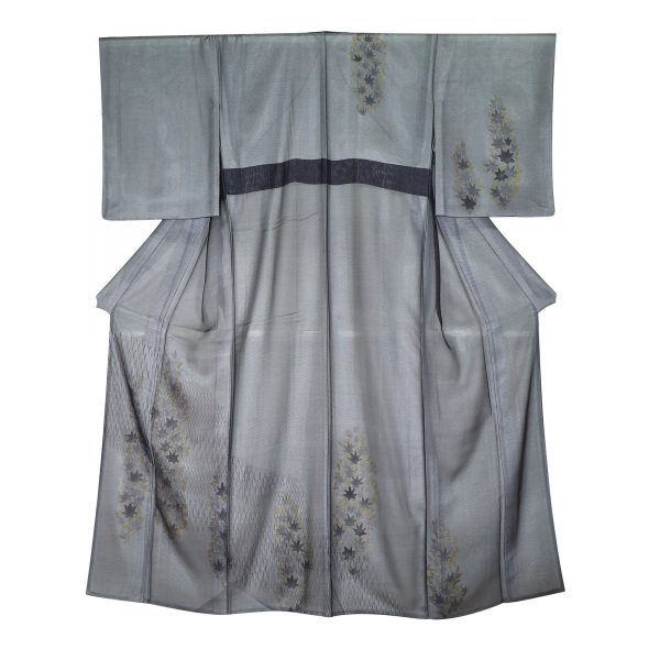 紅葉文の紗合わせ 夏の着物