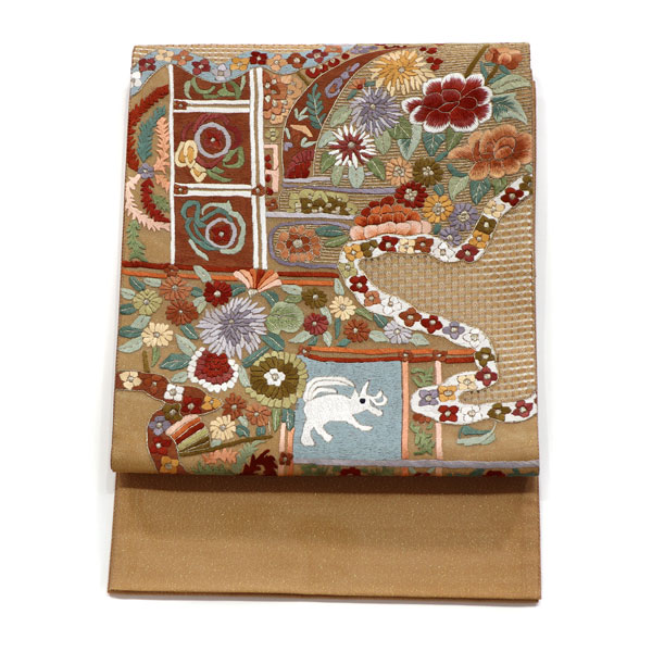 スワトウ刺繍の袋帯