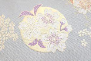 千地泰弘の桜文の袋帯