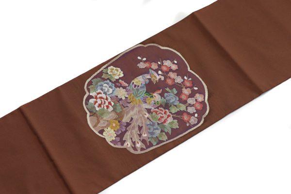 鳳凰文の志那つづれの袋帯