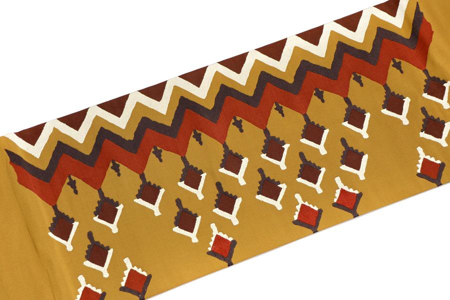 川島織物のカラシ地の名古屋帯
