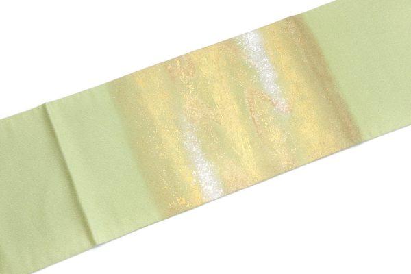 安達雅一作の金彩の袋帯