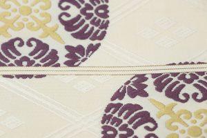 喜多川平朗作の唐織の袋帯