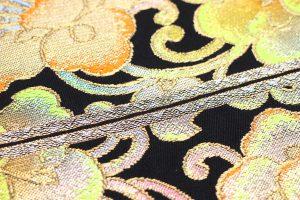 たつむら製の「経巻彩花錦」の袋帯