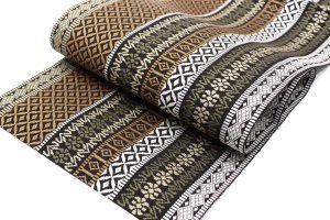 小森久の博多織の名古屋帯