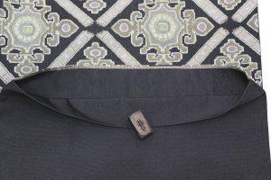 北村武資のグレー地の袋帯