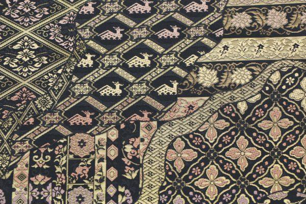 箔屋清兵衛製の百図道長文の袋帯