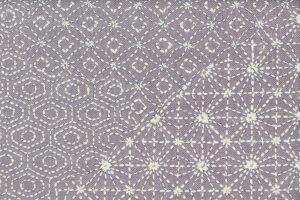 刺し子刺繍の全通袋帯