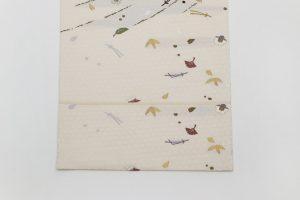 祥園製の流行花吹雪文の袋帯