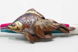 金魚のアンティーク帯留