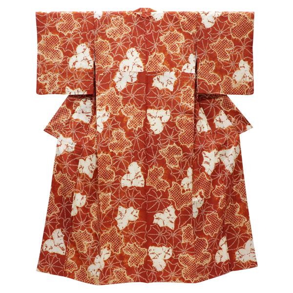 蔦文の茜染の着物