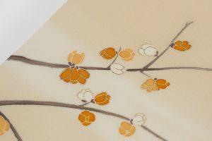 水仙と蝋梅文の塩瀬の名古屋帯